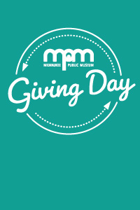 giving day logo in white on teal background
