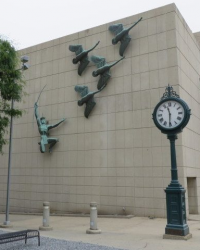 sculpture on building wall
