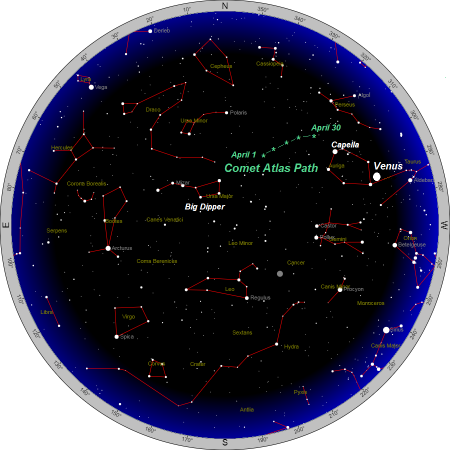 constellation map of april sky