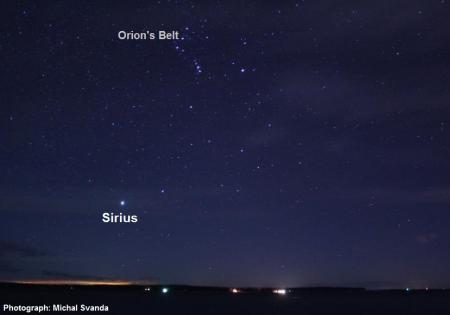 sirius and orion's belt