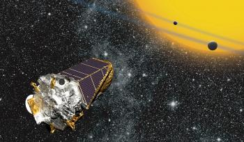 kepler telescope floating in space