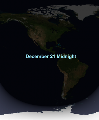 earth at midnight in december