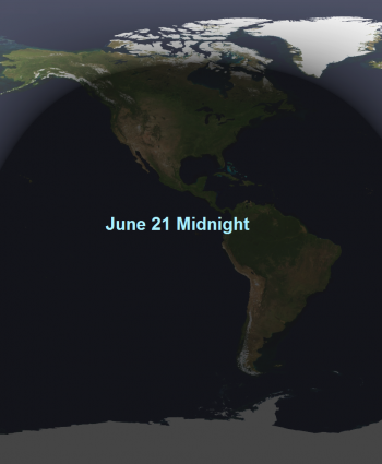 earth at midnight in june