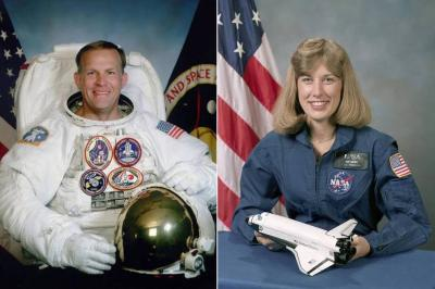 male and female astronauts
