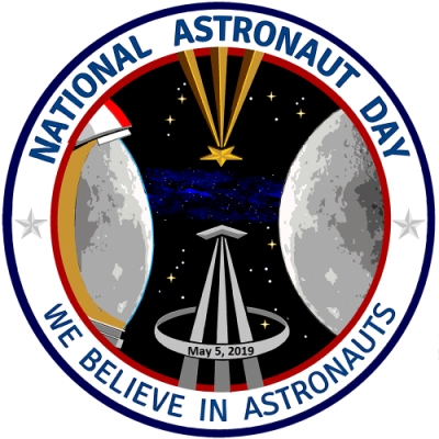 national astronaut day logo