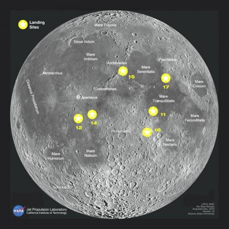 map of moon landings