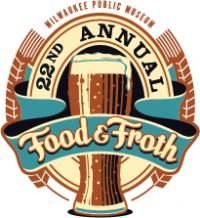 beer glass food and froth logo